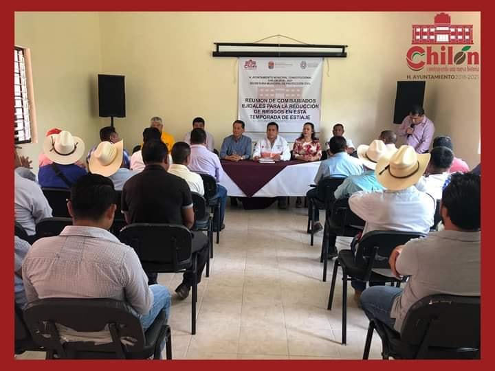 COMISARIADOS EJIDALES DE CHILÓN SE REUNIERON CON AUTORIDADES ESTATALES Y MUNICIPALES PARA LLEVAR A CABO UNA PLÁTICA SOBRE LA PREVENCIÓN DE INCENDIOS FORESTALES