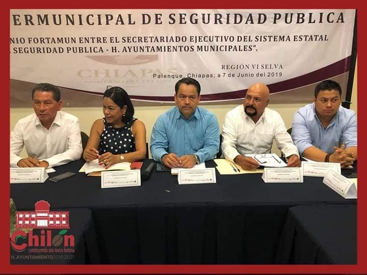 CUARTA SESIÓN INTERMUNICIPAL DE SEGURIDAD PÚBLICA CELEBRADA EN PALENQUE